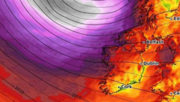 'Deep low' - Fears storm system could hit Ireland next week