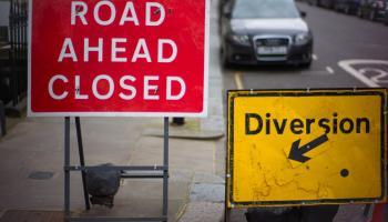 Road closure in Waterford