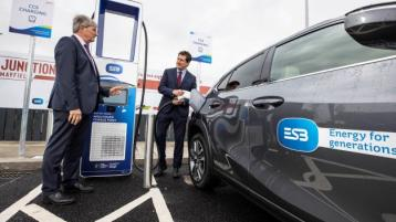 ESB opens first eight-bay electric vehicle charging hub at Mayfield on M7