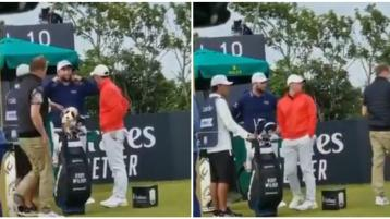 WATCH: Bizarre incident as spectator takes club from Rory McIlroy's bag at Scottish Open