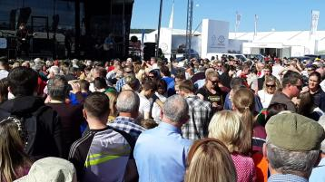 WATCH| Carlow's Derek Ryan causes chaos at main stage of the Ploughing as crowds go wild