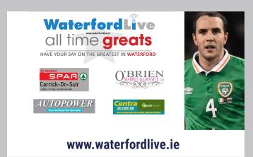 John O'Shea voted the winner in poll to crown Waterford's 'All Time Great'