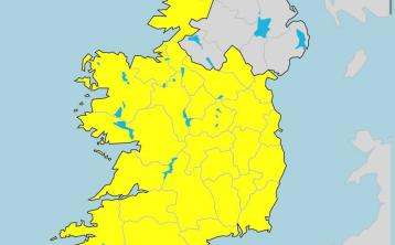 Waterford included in Status Yellow weather warning from Met Éireann