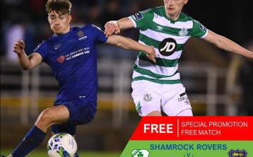 Shamrock Rovers v Waterford will be FREE for supporters to watch