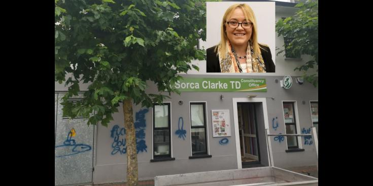 Sinn Féin TD angered by intimidating graffiti attack on her office