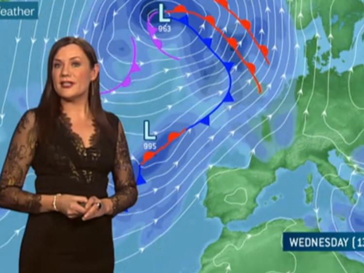 Storm warning for Wednesday and Thursday with winds up to 50 m/second